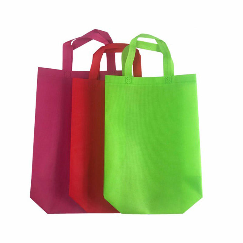 Eco-friendly Polypropylene Reusable Printed Shopping  Bags Folded Non-woven PP Bag