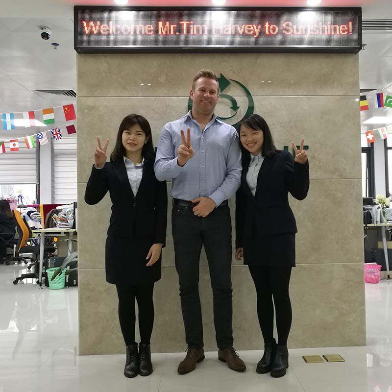 Welcome Mr. Tim Harvey to Sunshine