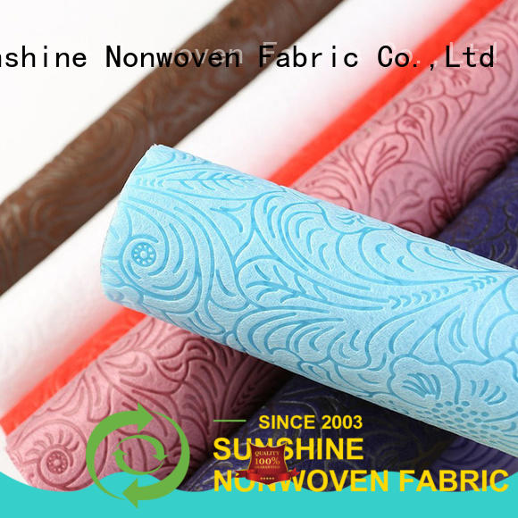 colorful non woven embossing manufacturer for bedding