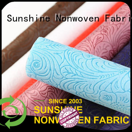 Sunshine nnon non woven embossing with good price for tablecloth