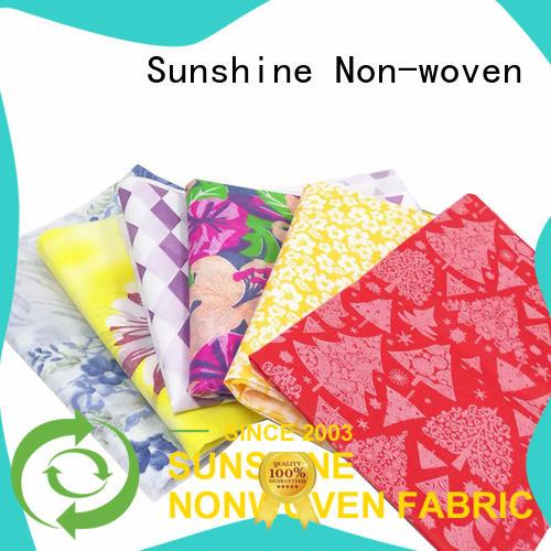Sunshine virgin non woven bag printing series for table