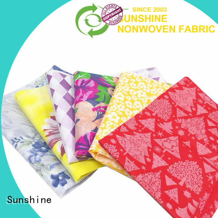 Sunshine banquet non woven bag printing directly sale for covers