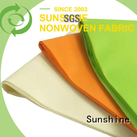 Sunshine colorful pp spunbond nonwoven series for packaging