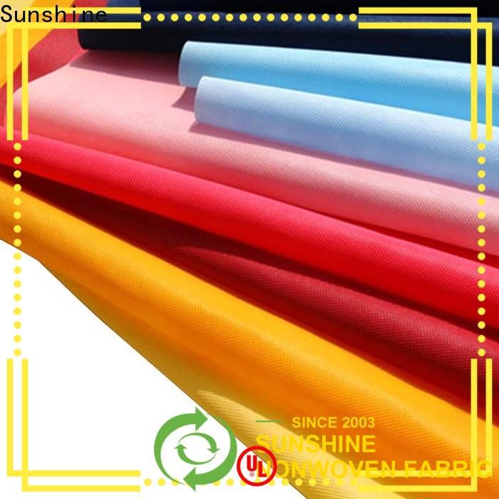 Sunshine spunbond non woven cloth supplier for shopping bag
