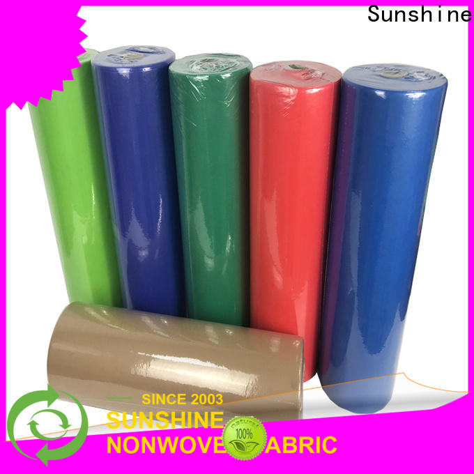Sunshine spunbond non woven fabric tablecloth factory for table
