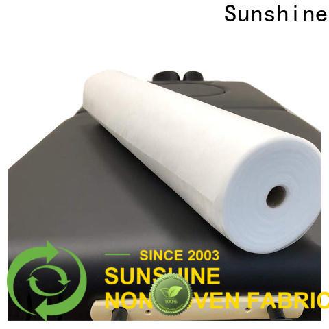 Sunshine comfortable disposable non woven bed sheet factory price for bedding