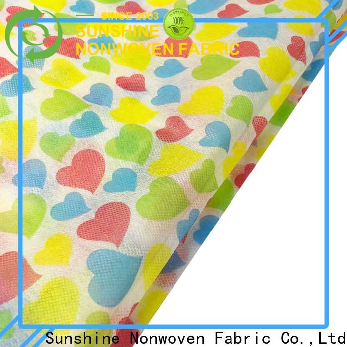 Sunshine colorful nonwoven printing directly sale for table
