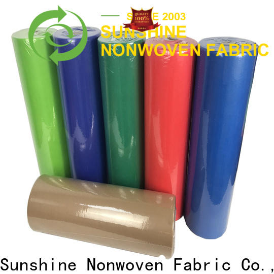 Sunshine disposable nonwoven table cloth directly sale for table