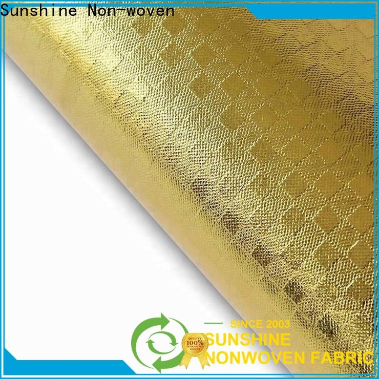 Sunshine disposable laminated fabric for chairs with good price for bedsheet