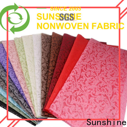 Sunshine wrapping non woven embossing manufacturer for tablecloth