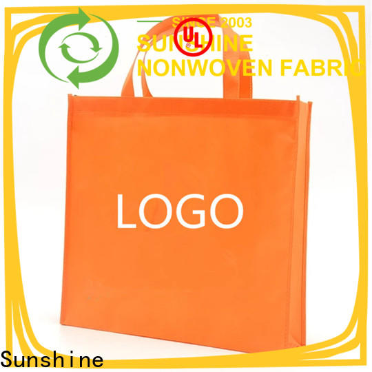 Sunshine waterproof non woven shopping bag factory for household