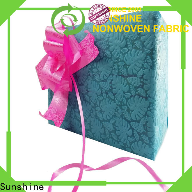 Sunshine leaf non woven embossing with good price for covers