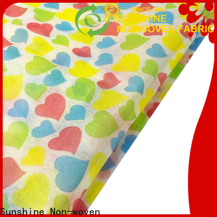 Sunshine popular nonwoven printing directly sale for table