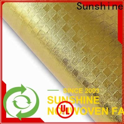 Sunshine rolls what is laminated fabric used for with good price for bedsheet