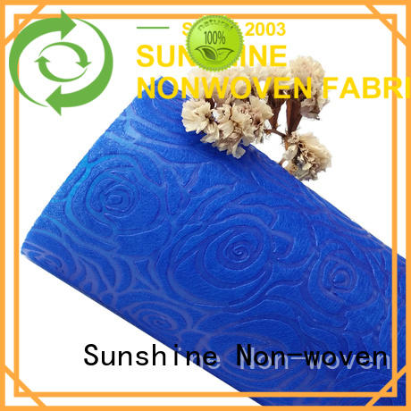 Sunshine comfortable embossed fabric design for covers