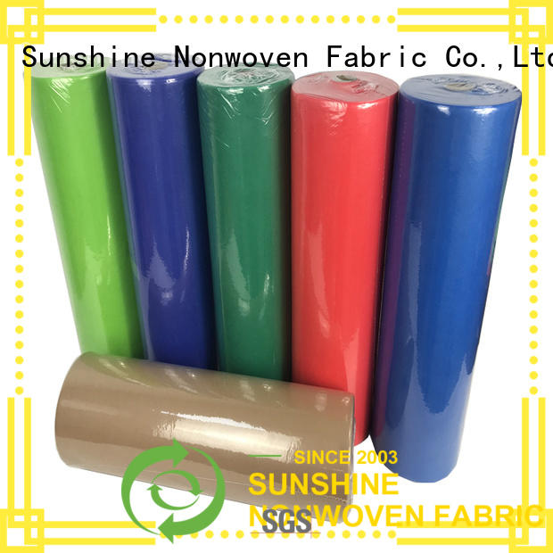 Sunshine comfortable nonwoven table cloth factory for table
