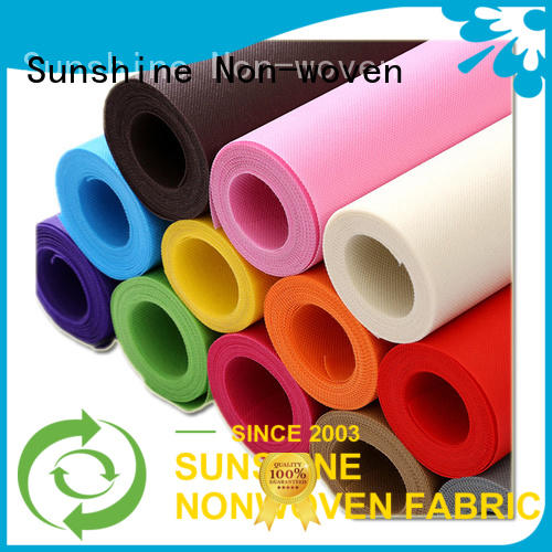 Sunshine quality pp spunbond nonwoven fabric manufacturer for bedsheet