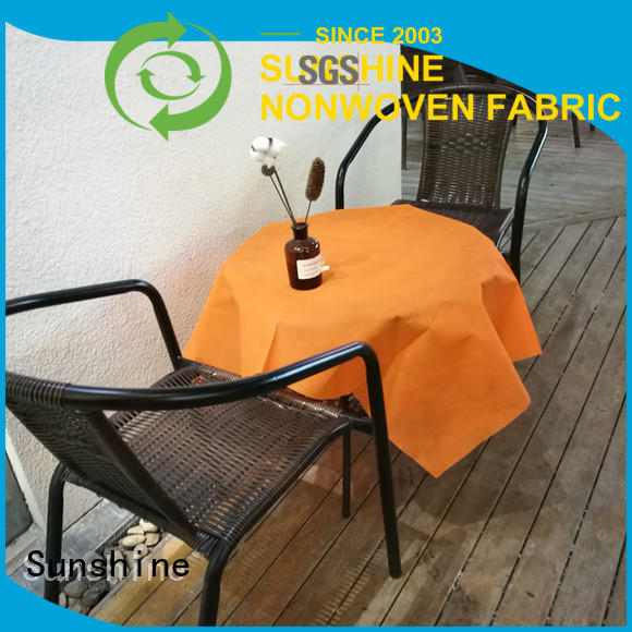 Sunshine ecofriendly nonwoven table cloth wholesale for desk