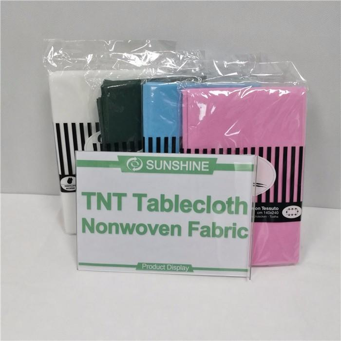 colorful non woven fabric tablecloth tnt wholesale for desk