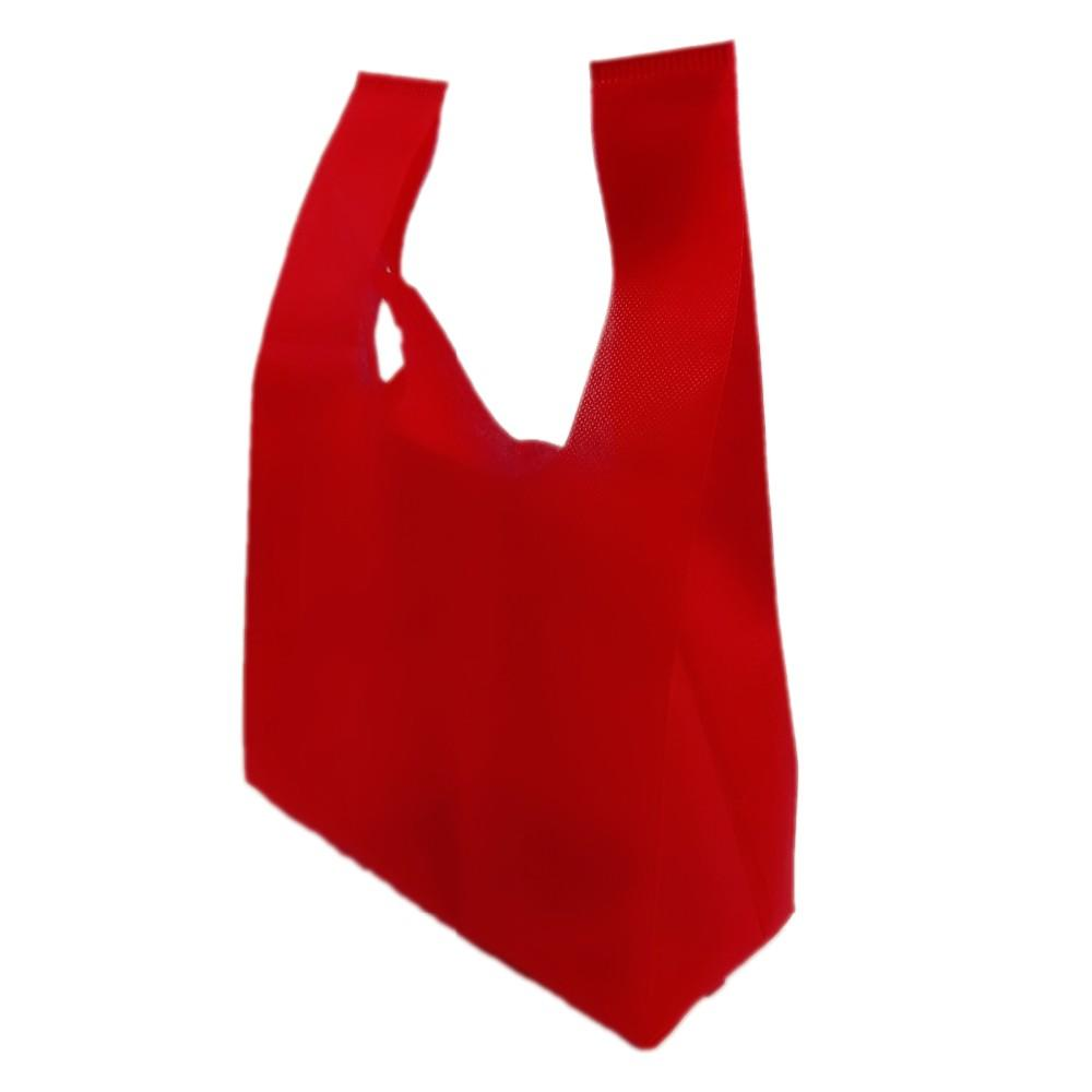 Factory Supply Cheap Promotion Shopping Logo Non Woven T-Shirt Bag, Nonwoven Custom Vest Bag