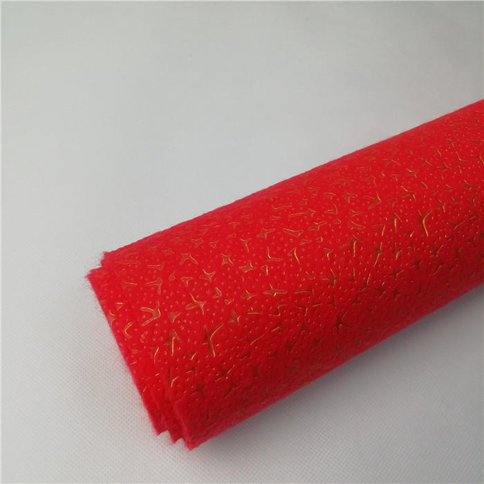 Hot Sale Christmas Embossed Nonwoven Fabric for Package
