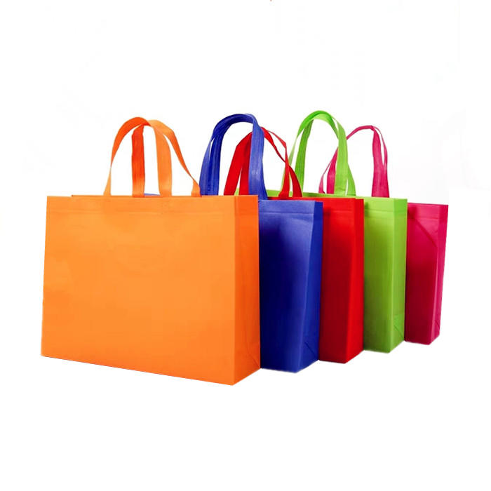 Custom Printed Promotional Reusable Nonwoven Handle Shopping Bag