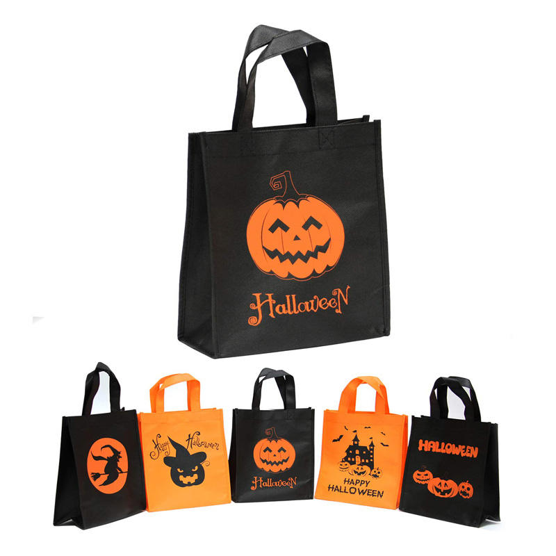 Custom Sewing Halloween PP Nonwoven Handle Bag