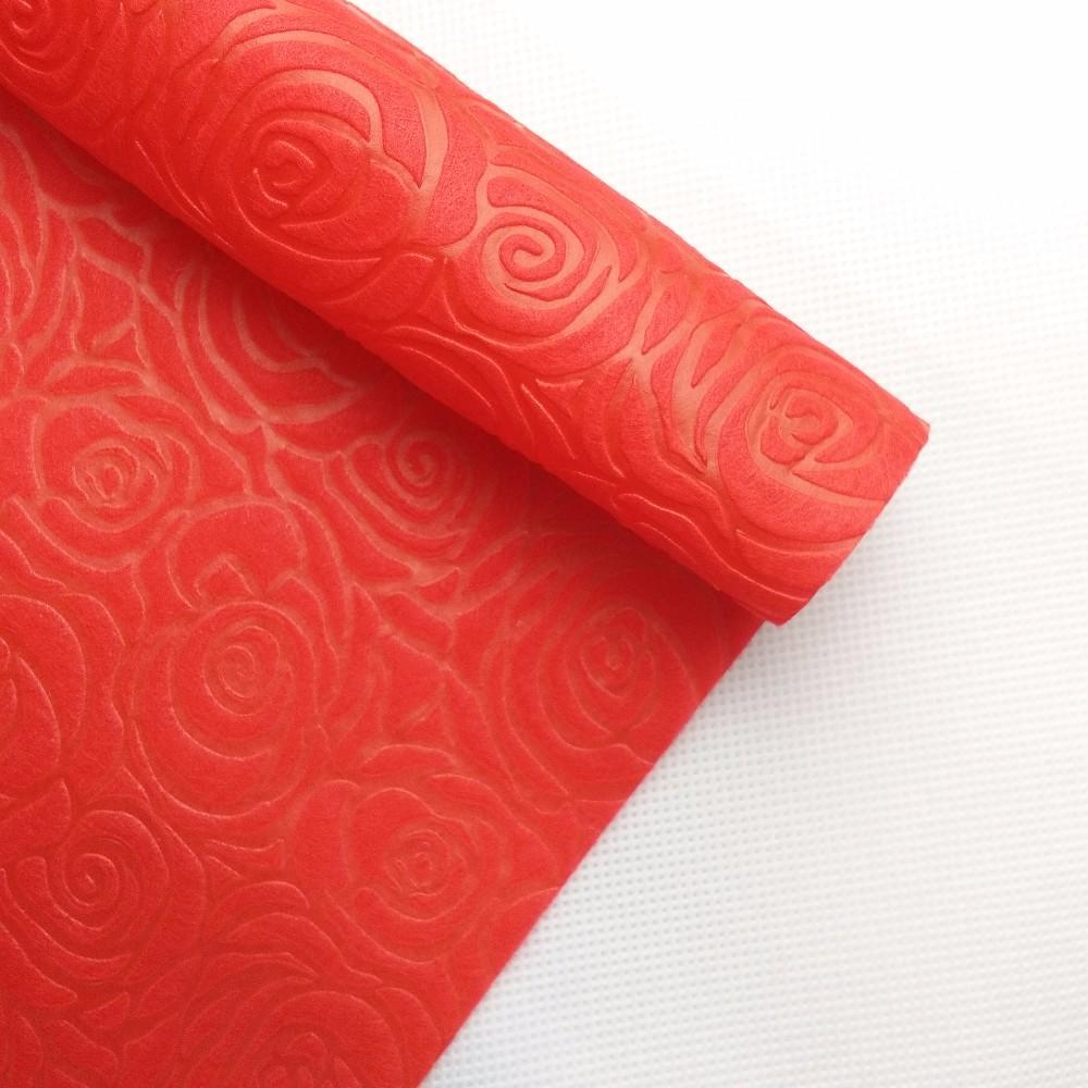 PP Non-woven Spunbond Fabric Material Embossed Rose Pattern