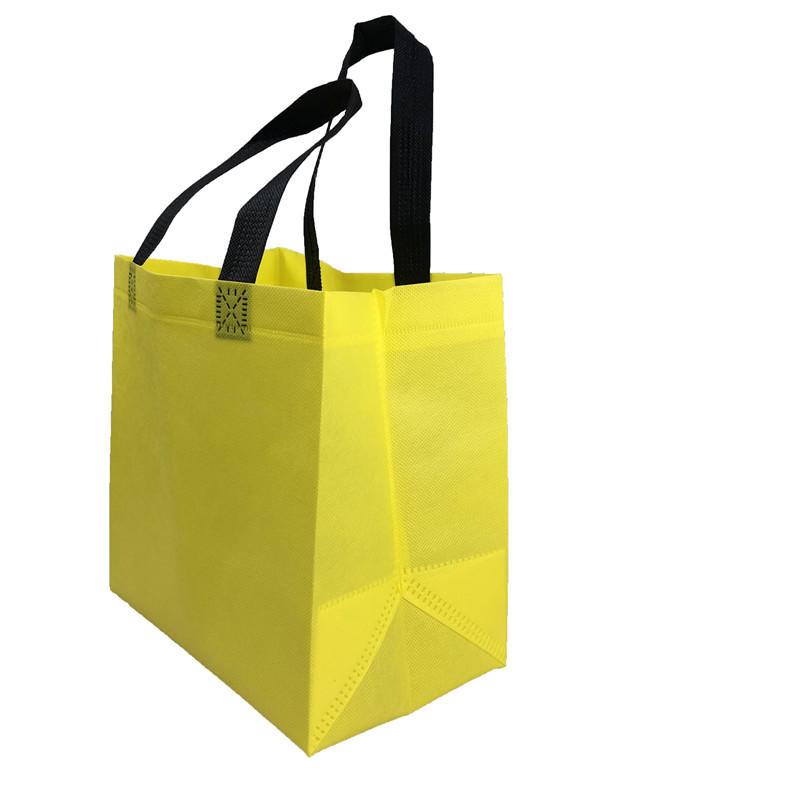 Yellow Color Eco Friendly Polypropylene Handle Nonwoven Bag