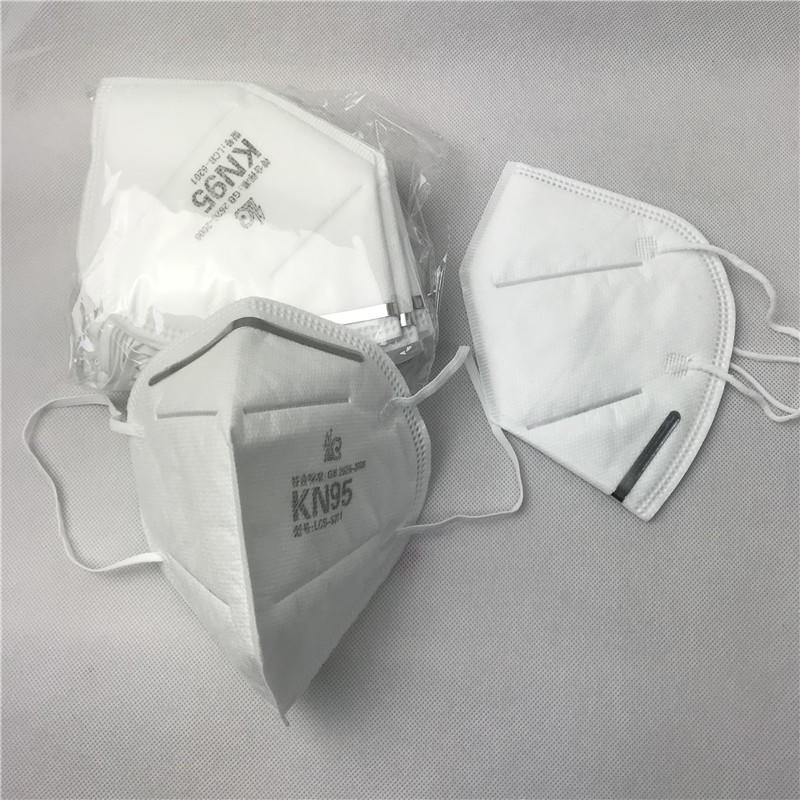 In Stock 5 Ply N95 white Face Mask with FDA