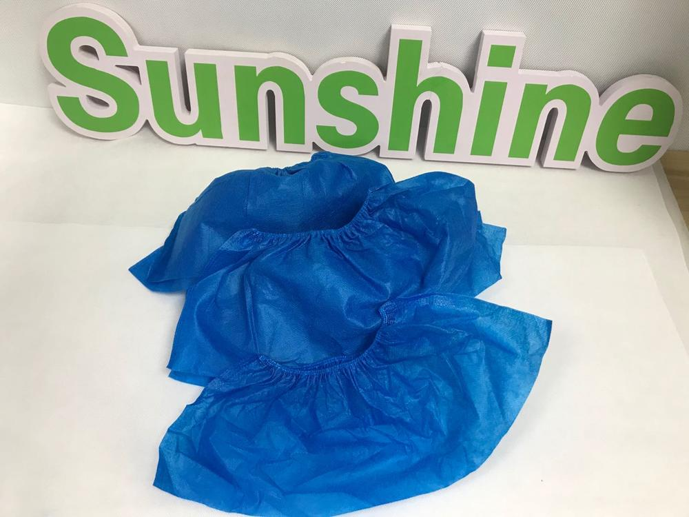 Breathable plastic film disposable protective shoe cover