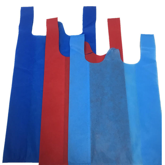 Hot Sale Supermarket Polypropylene Non wovens T shirt Shopping Bags Nonwoven Vest Bag