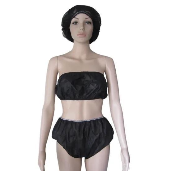 Cheap Non-woven Fabric Disposable Women Underwear/Bra Spa Ladies Disposable Underwear