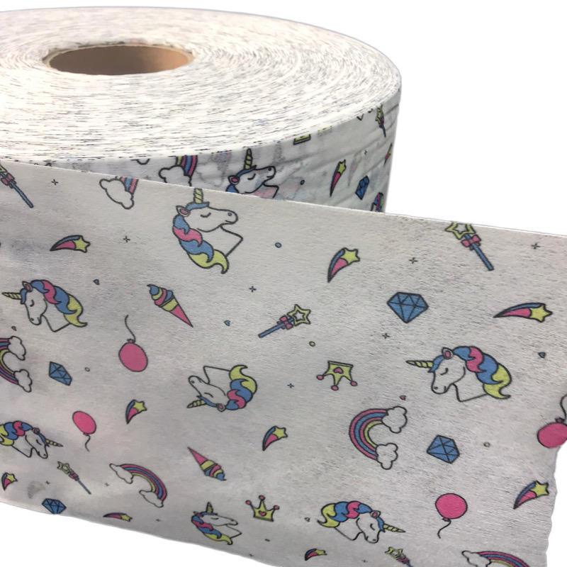 Eco-friendly Many Printed Design Nonwoven Fabric 100% Polyester Spunlace Non woven Fabrics
