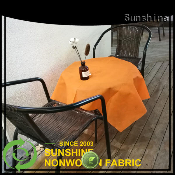 Sunshine spunbond non woven fabric tablecloth personalized for table