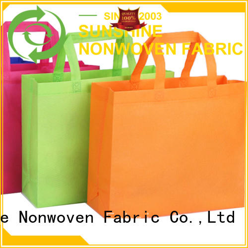 Sunshine woven non woven carry bags wholesale for bedroom