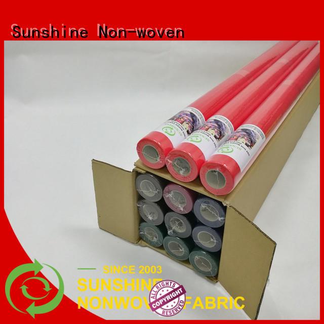 Sunshine ecofriendly non woven fabric tablecloth wholesale for desk