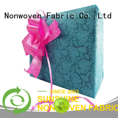 Sunshine non woven embossing with good price for covers