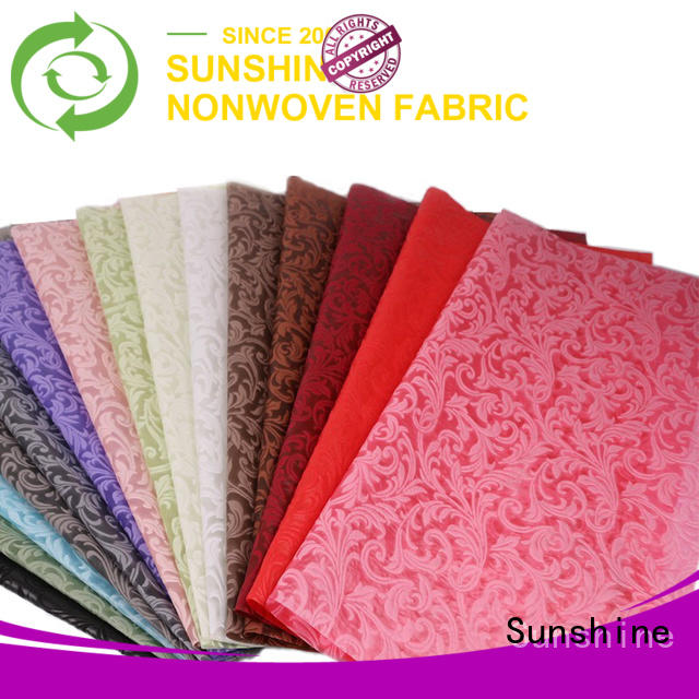 Sunshine professional embossed fabric with good price for table
