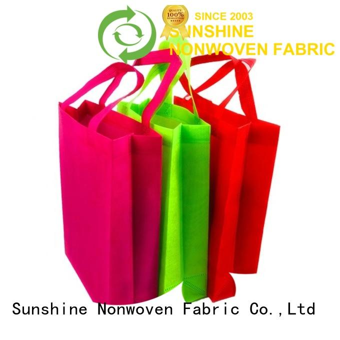 Sunshine medical non woven shopping bag factory for bedroom