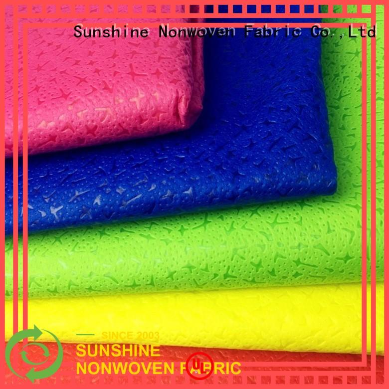 Sunshine soft non woven embossing manufacturer for covers