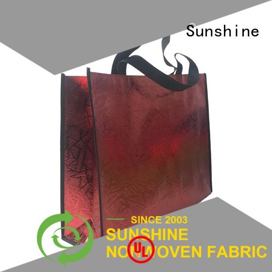 Sunshine polyester non woven carry bags personalized for household