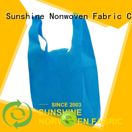 Sunshine color nonwoven bags personalized for household