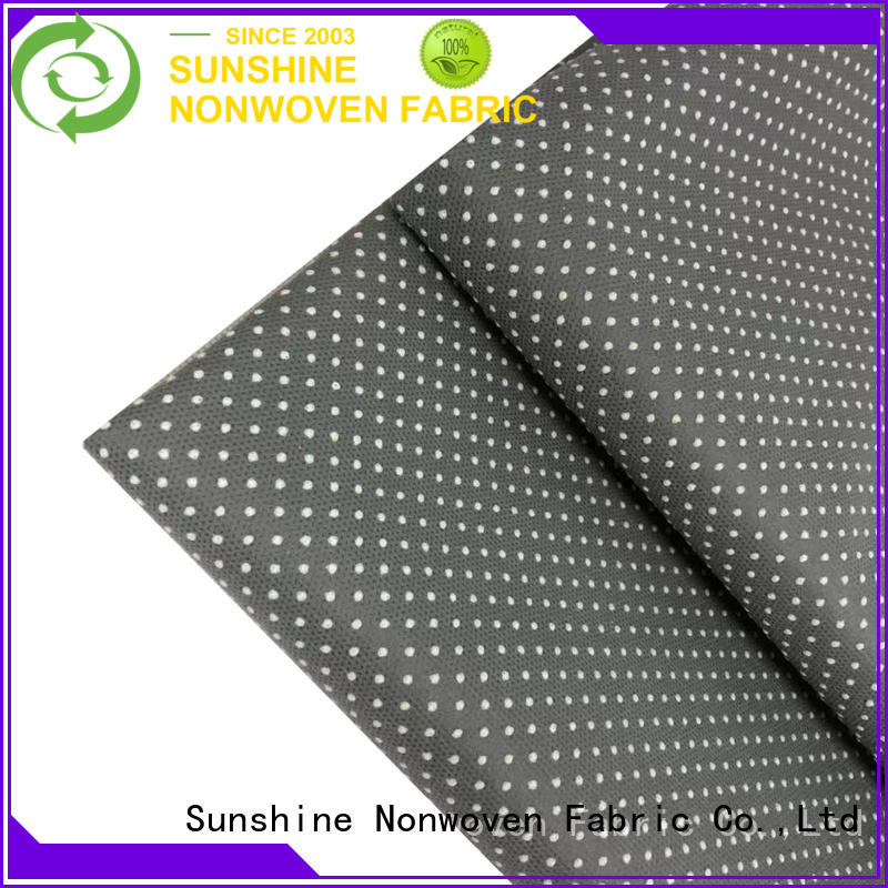 dotted non slip material factory price for slipper
