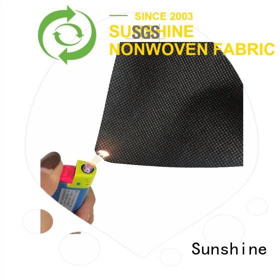 Sunshine embossed flame retardant fabric factory price for shopping bag