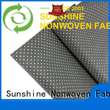 Sunshine dotted non skid fabric customized for hotel