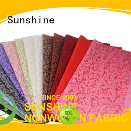 Sunshine comfortable non woven embossing manufacturer for table