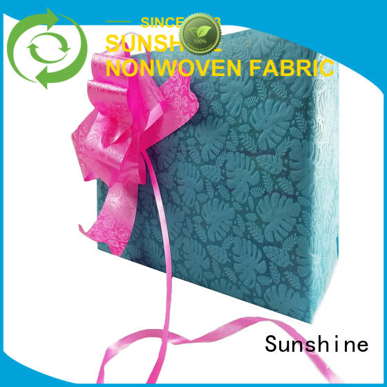 Sunshine medical embossed fabric manufacturer for table