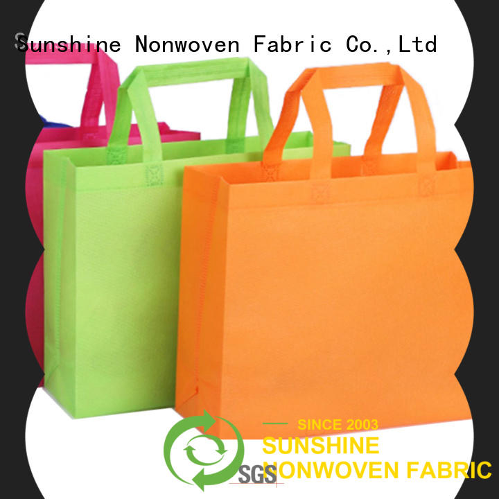 Sunshine disposable non woven shopping bag wholesale for bed sheet