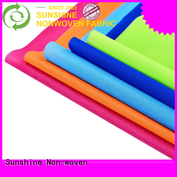 Sunshine eco-friendly pp spunbond nonwoven fabric manufacturer for hotel